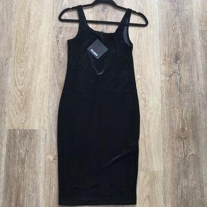 Zara Sleeveless Velvet Midi Dress
